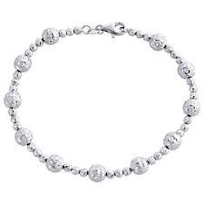 Joyería 10 Quilates Oro Blanco Unisex 1.85mm Talla Diamante Sólido Eslabones Cuerda Metal Precioso Sin Piedras
