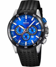 New Festina 2018 Chrono bike Rubber Band Blue  F20353/2  Watch