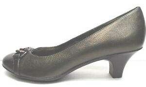 Sofft Size 9.5 Bronze Leather Kitten Heels New Womens Shoes