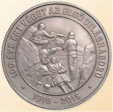 Hungary 2000 forint 2018 End of WWI World War I. Soldier Machine Gun BU