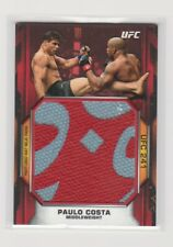 PAULO COSTA - 2020 TOPPS UFC KNOCKOUT - FIGHT MAT RELIC - RED - # 3/8