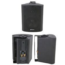 "QUALITY 4"" 70W Black Background HiFi Speaker *100V & 8ohm* Wall Mount Bookshelf"