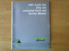 1987 Vintage Arctic Cat Kitty Cat Parts And Service Manual P/N 2254-350