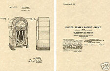 WURLITZER Model 1080 JUKEBOX 1949 Vintage US PATENT Art Print READY TO FRAME!!!