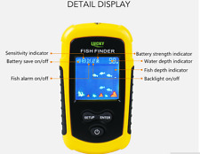 LCD 100m Portable Sensor Sonar Fish Finder Fishfinder Beam Alarm Transducer