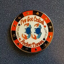 Pocket Threes Crabs Poker Card Guard Chips Table Coin