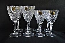 Cristal de Flandre France 24% Genuine Lead Crystal Wine Glasses 2 Sets of 4
