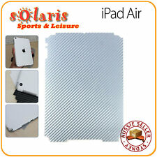 iPad Air Silver Carbon Fibre Vinyl Back Skin Sticker Protection Decoration Cover