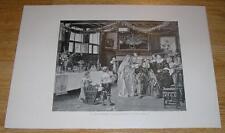 ANTIQUE OLD WEDDING CUSTOM ORNATE TABLE GLASSWARE PEACOCK FLOWER GARLAND  PRINT
