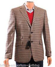 BNWT William Hunt Savile Row 2SB Marron carreaux laine veste blazer rrp £ 495 Uk40