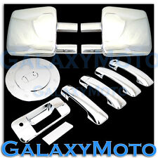 07-13 TOYOTA TUNDRA Towing Mirror+Chrome 4 Door Handle no PSG+Tailgate+Gas Cover