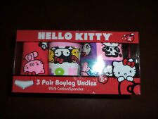 Hello Kitty 3 Pair Boyleg Undies Sets Mint With Tags