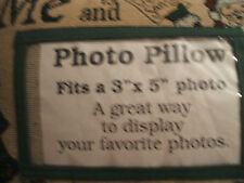 Christmas Pillow Photo Memory New Me & Santa 8x12 Pillow 3x5 Phote Pocket   USA