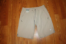 NWT Womens FREE COUNTRY Khaki Active Board Bermuda Shorts Small (4/6)