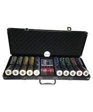 Pro 500 Piece High End Poker Set with Locking Case and Fleur de Lis Chips -17lbs