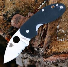 Couteau Spyderco Insistent Serr Lame Acier 8Cr13MoV Manche G10 SC246GPS