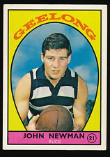 1968 A Scanlens Geelong No. 21 John Newman Cats football card