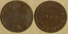 Token: Canada 1855 Duncan & Co. One Cent Fisheries & Agriculture  26mm CU