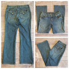 Simply Vera Vera Wang Size 2P Bootcut Jeans Faded Wash Stretch Back Pocket Flaps