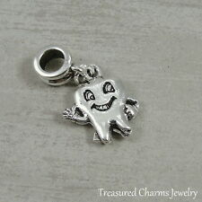Silver Tooth Dangle Charm - Dentist Dental Hygienist Bead fits European Bracelet