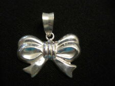 "925 Sterling Silver Bow Pendant 7/8"" tall with Bale ~ 2.04 Grams"