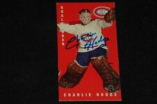 CHARLIE HODGE 1994 PARKHURST TALL BOYS SIGNED AUTOGRAPHED CARD #82 CANADIENS
