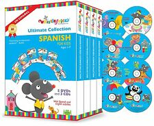 The Ultimate Collection Spanish for Kids Ages 1-7 (2015, 5 DVD 3 CD Box Set) New