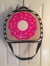 NWT Betsey Johnson Train Case Weekender Luggage Bag Pink Donut Suitcase