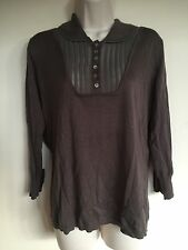 POETRY Anthropologie Large UK 16 EUR 42/44 Silk Cashmere Knit Tunic Shirt #B4