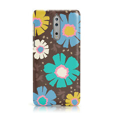 DYEFOR YELLOW BLUE DAISY STYLE NEON FLOWER PATTERN PHONE CASE COVER FOR NOKIA