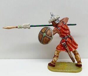 Elastolin 7 cm Umbau Figur Hunne mit Lanze in schöner Sammlerbemalung (V-9100