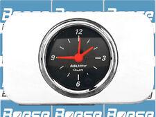 37 38 Chevy Car Billet Aluminum Clock Insert w/ Auto Meter Designer Black Clock