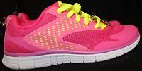 Danskin Now- Girls/Youth/Women Size 5y Pink/Yellow Lightweight Running Shoes