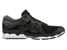 Genuine| Mizuno Wave Sky 2 Womens Running Shoes (B) (09) (Black/Metallic Shadow)