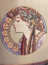 Dmc Longstitch Kit Art Nouveau Lady New Unworked