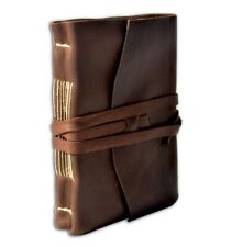"Medioevo Handmade Leather Blank Journal 5x7"" Sketch pages. Dark Brown - NEW"