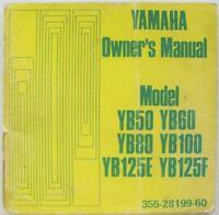 Yamaha YB50 YB60 YB80 YB100 YB125E YB125F 1973 #355-28199-60 Motorcycle Handbook