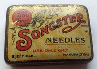 SONGSTER NEEDLES - rare needle tin Phonograph Grammophon Nadeldosen