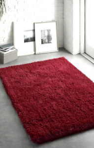 Origins Chicago Supreme Shaggy Red Sparkle Twist Rug Red Circles & Runners