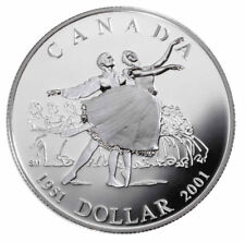 2001 $1 National Ballet of Canada 50th Anniversary Sterling Silver Dollar