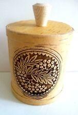 Handmade Wooden Birch Bark Container/Beautiful Detail