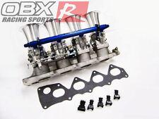 OBX 50 MM Individual Throttle Body ITB FIT 2000-2009 S2000 2.0L 2.2L F20C F22C1