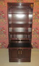 Ethan Allen Georgian Court Secretary Locking Bookcase Desk Wall Unit 11 9035