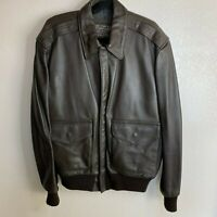 Vintage Air Force Type A-2 Flight Leather Jacket Size 40