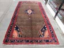 Vintage Hand Made Traditional Rug Oriental Rug Wool Brown Large Rug 322x168cm