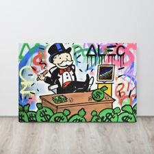 Alec Monopoly Canvas Print Mr Monopoly Wall Art Decor Large Size Framed