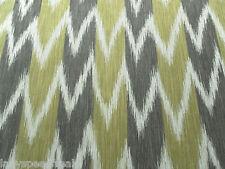 Sanderson Curtain Fabric KAZAK 4.0m Lichen/Cocoa Ikat Weave Design 400cm