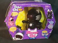 Meow-Chi Robo-Chi Pets Interactive Black Cat & Toy Mouse #59705-Never Used