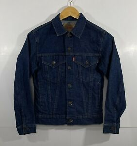 Vintage Levi's Jacket Sz 16 Denim Trucker Jacket Dark Wash Type 3 70706-0216