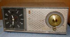 Vintage ZENITH J514 G J514G AM/Clock/Alarm Tube Radio Parts/Project J0725